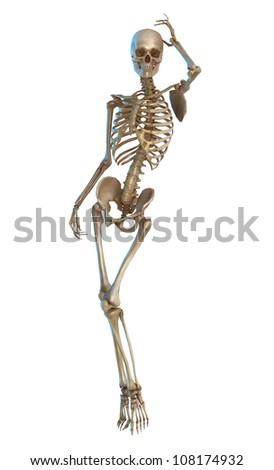 skeleton model pose - stock photo