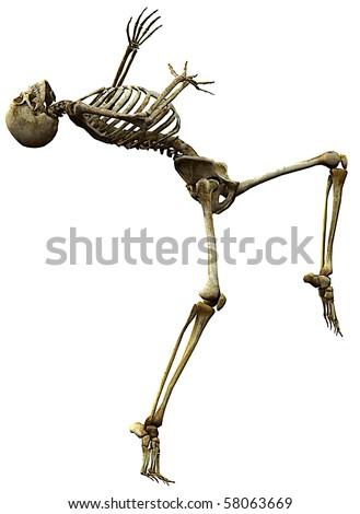 skeleton why me - stock photo