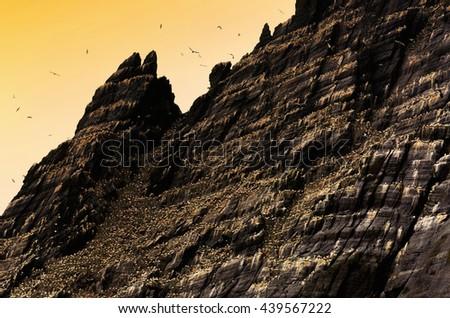 Skellig Michael, UNESCO World Heritage Site, Kerry, Ireland. Wild Atlanic way - stock photo