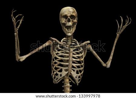 Skelton That Screaming Stockillustration 133997978 – Shutterstock