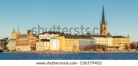 Skeppsholmen, Stockholm. An island closely connected to the Old town of Stockholm. - stock photo
