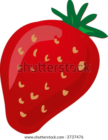 Sketch of a strawberry.Hand-drawn lineart look illustration - stock photo
