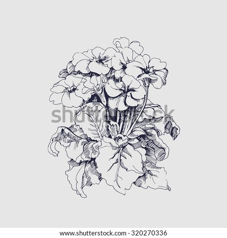 hand drawn peony flower tattoo design stock vector 578213809 shutterstock. Black Bedroom Furniture Sets. Home Design Ideas
