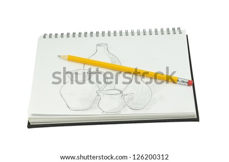 Sketch Pad - stock photo