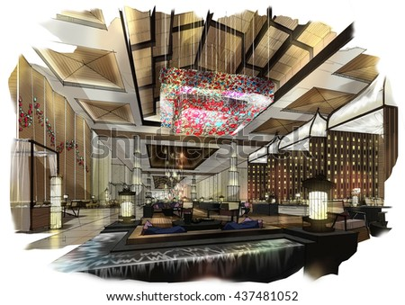 sketch perspective interior design sketches painting to watercolors design i76 interior