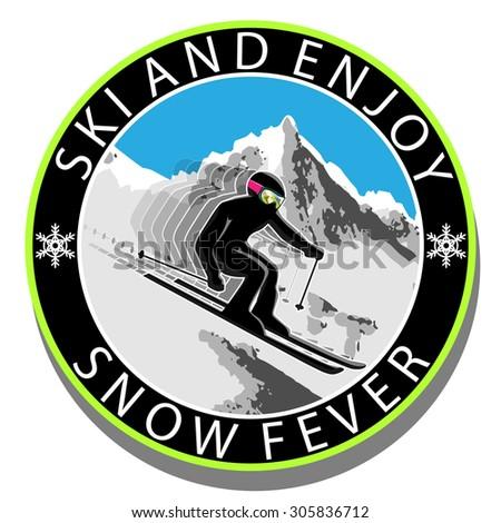 Ski and Enjoy - stock photo
