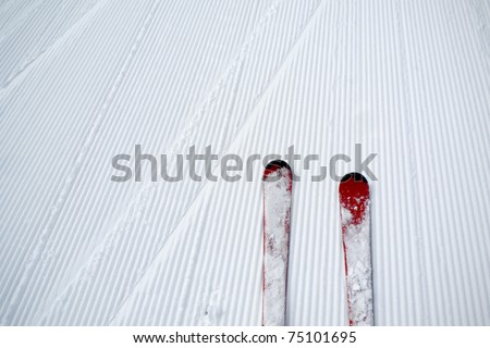 ski and snow background view