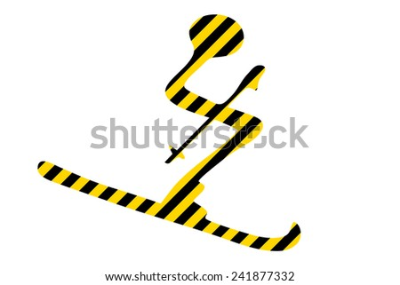 ski - avalanche danger - stock photo