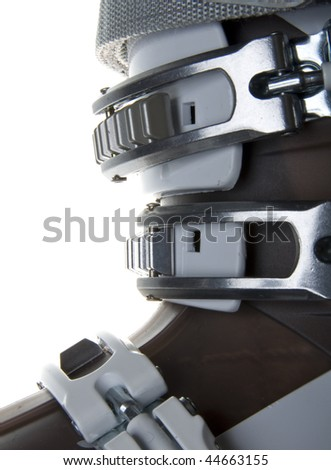 Ski boots isolated on white background
