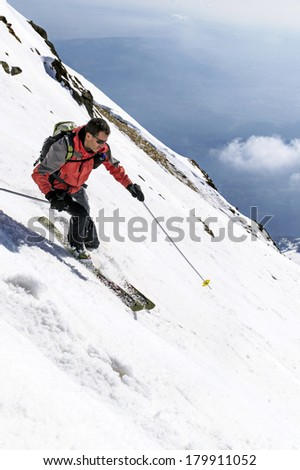 ski freeride in Italian Alps