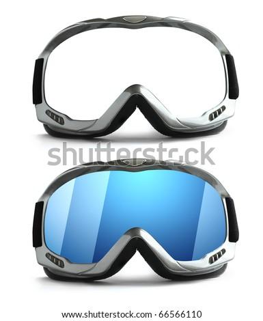 Ski glass - stock photo
