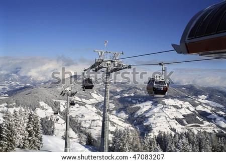 ski lift Austria - stock photo