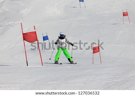 Ski race - stock photo