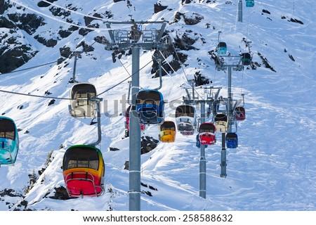 ski resort - stock photo