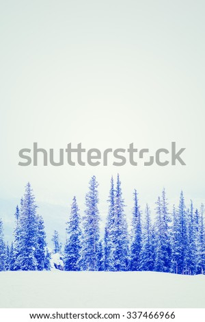 Ski resort at the end of the season after the snow storm in Colorado. - stock photo