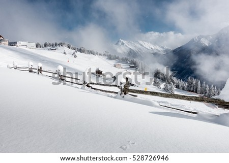 Ski resort in Tirol in Austria