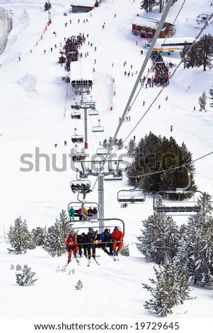 Ski resort Les Arcs. France - stock photo
