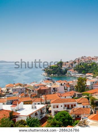 Skiathos in Greece - stock photo