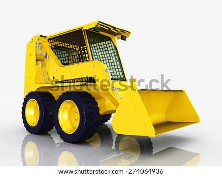 Skid-Steer Loader Computer generated 3D illustration - stock photo