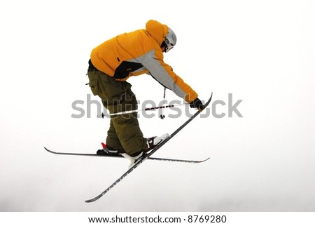 skier isolated