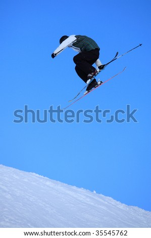 Skier jump in the air