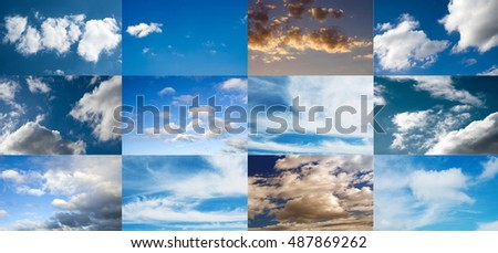 skies collection as a collage