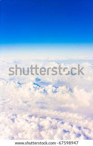 Skies From a Plane Far Above