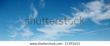 Skies with interesting cloud - stock photo