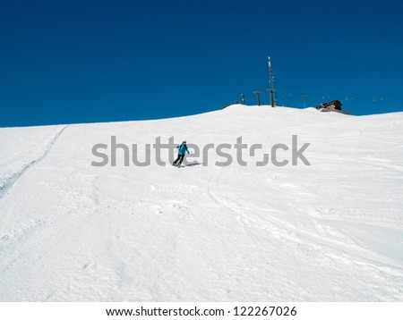 Skiing area in the Alps