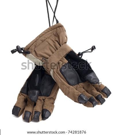 skiing gloves - stock photo
