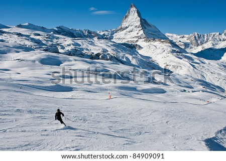 Skiing in the Swiss Alps Alone