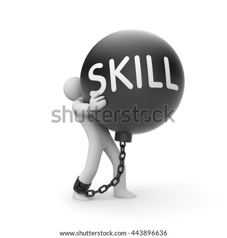 Skill up metaphor. 3d illustration - stock photo