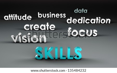 Skills at the Forefront in 3d Presentation - stock photo