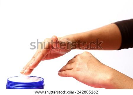 Skin needs moisture. - stock photo