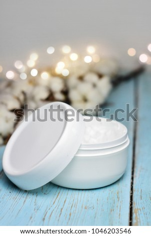 Skincare product for facial with cotton