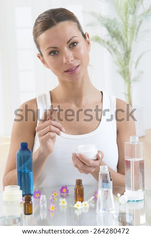 Skincare products - stock photo
