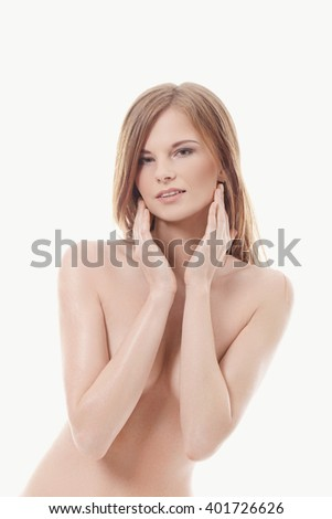Skincare. Woman with beautiful body