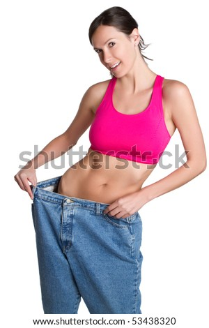 Skinny weight loss woman - stock photo