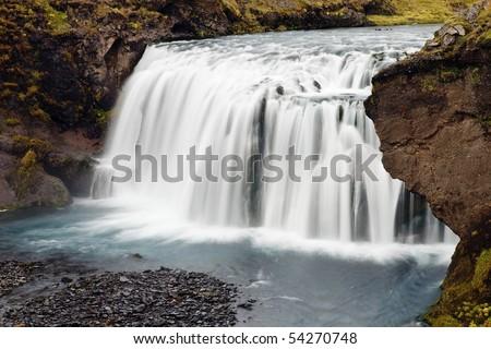 Skogar falls - Iceland - stock photo