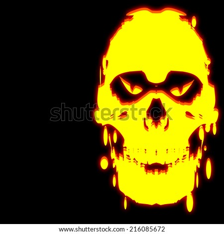 skull halloween background