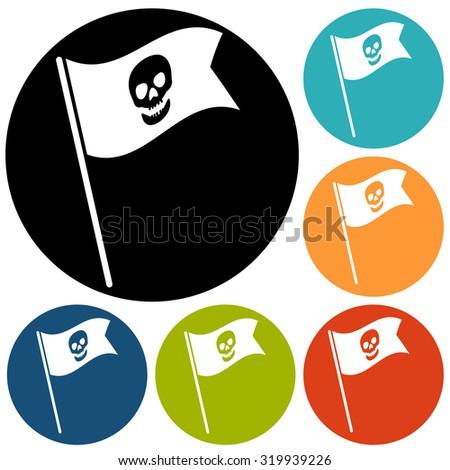 Skull icon isolated - stock photo
