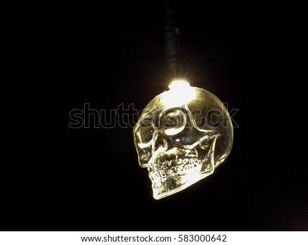 Skull lamps lamp shade ceiling lighting stock photo 583000642 skull lamps lamp shade ceiling lighting selective focus and toned image aloadofball Image collections
