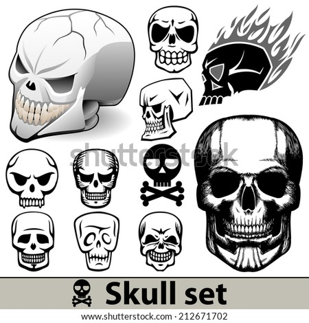 Skull set illustration