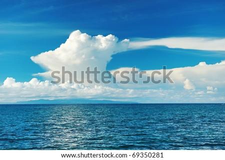 Sky above sea at Bohol, Philippines - stock photo