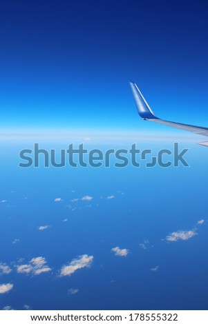 Sky aerial background