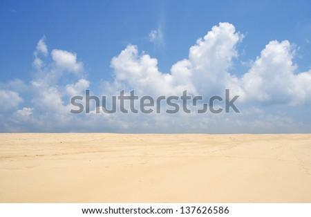 sky and beach  - stock photo