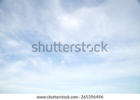 Sky and cloud ,Good weather day background - stock photo