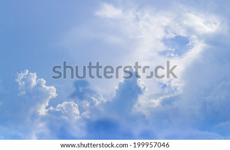 Sky and clouds abstract illustration - stock photo