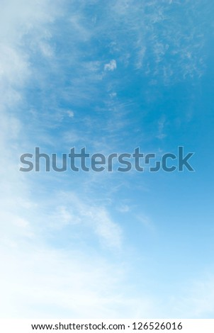 Sky and clouds in the bright day - stock photo