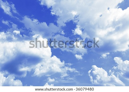 Sky and clouds, may be used as background - stock photo